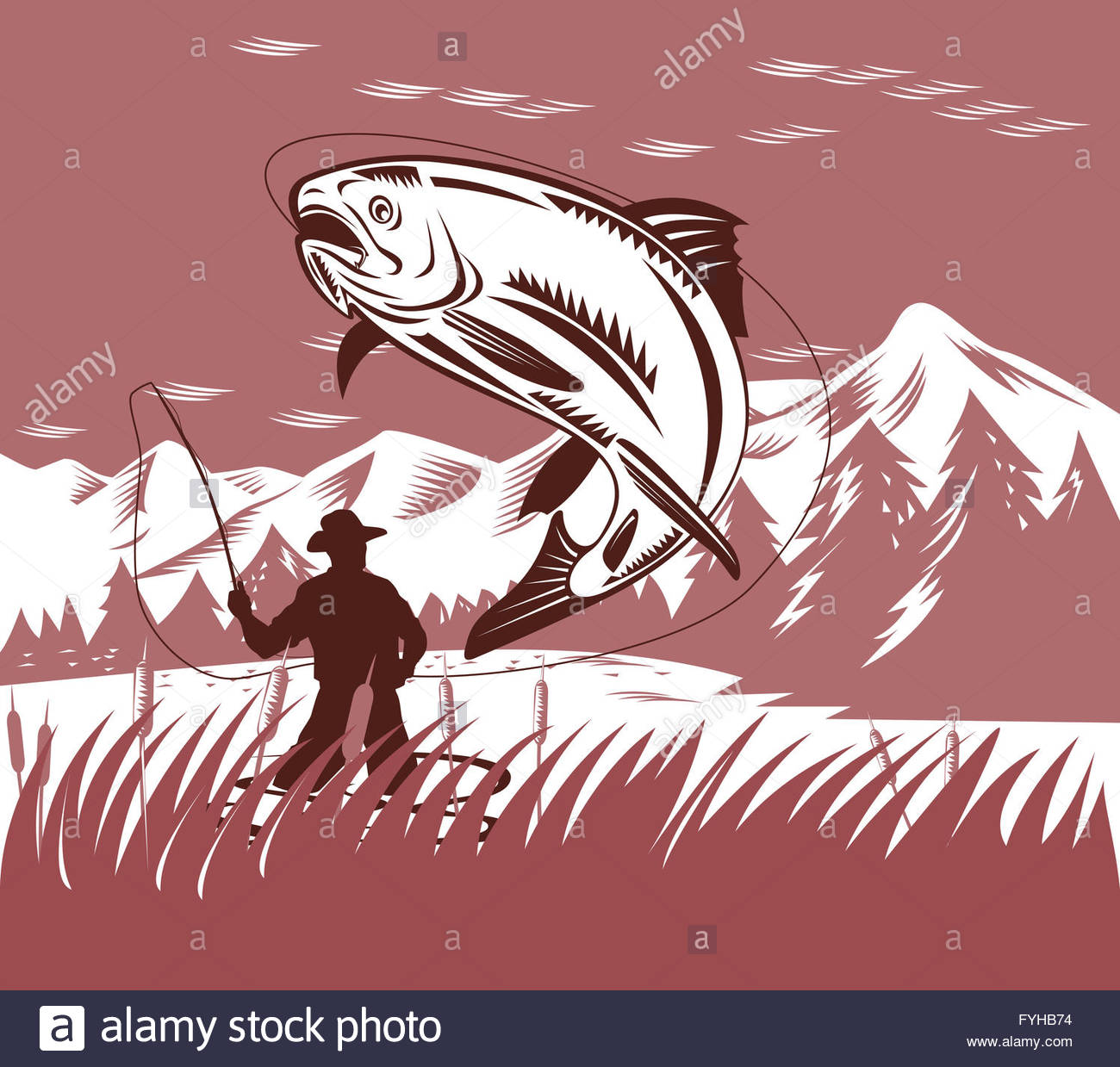 Fly Fisherman Drawing at GetDrawings.com | Free for personal use Fly ...