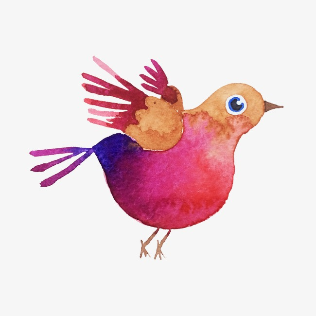 650x650 Red Bird, Hand Painted Birds, Drawing Animals, Flying Birds Png