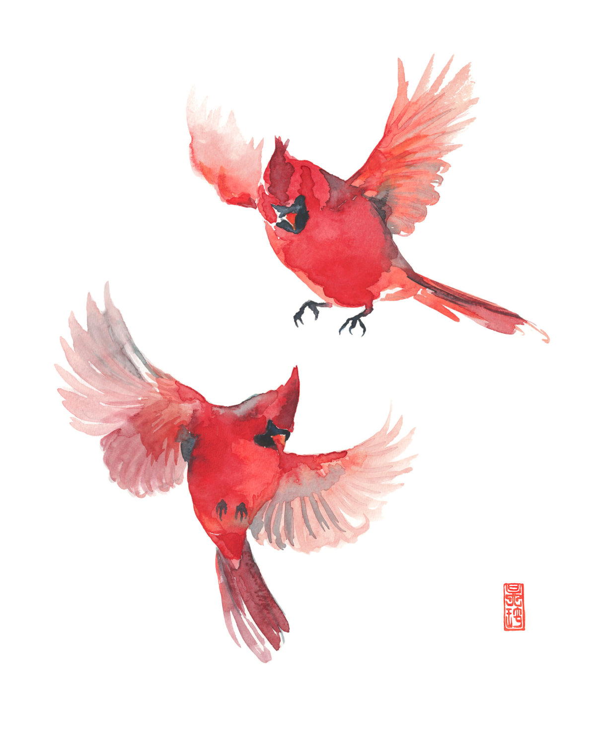 Flying Cardinal Drawing at GetDrawings.com | Free for personal use ...