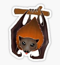 210x230 Flying Fox Drawing Stickers Redbubble