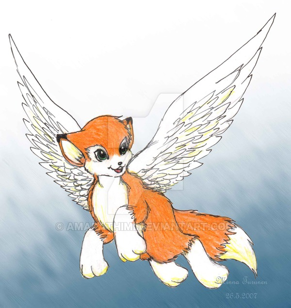 600x635 Little Flying Fox By Amarathimi