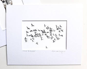 340x270 Flying Geese Print Etsy
