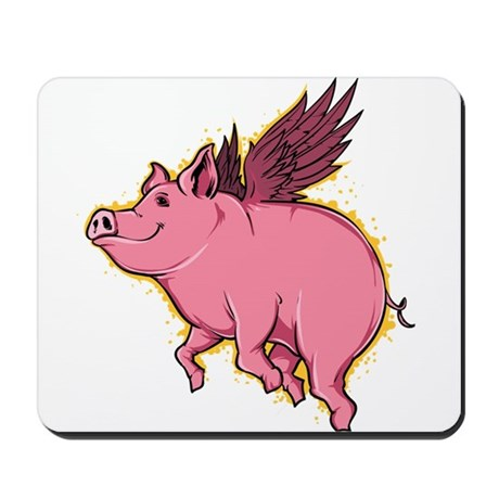 460x460 Flying Pig Mousepads Buy Flying Pig Mouse Pads Online