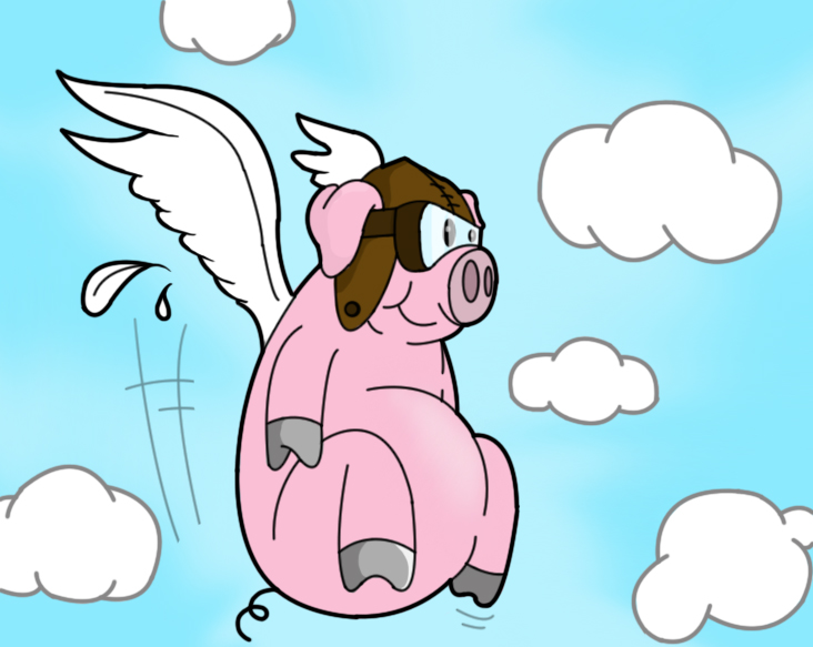 732x583 Flying Pig By Shellshock92
