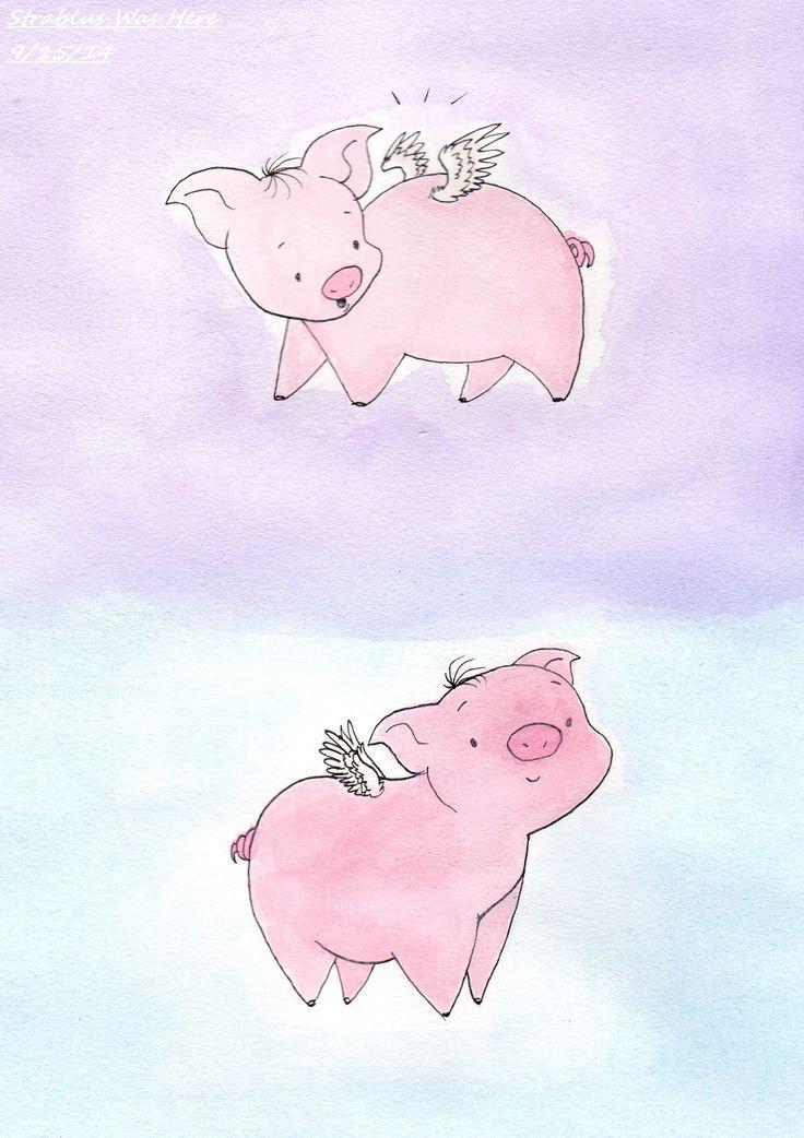 736x1042 Pretty 24 Flying Pig Cartoon