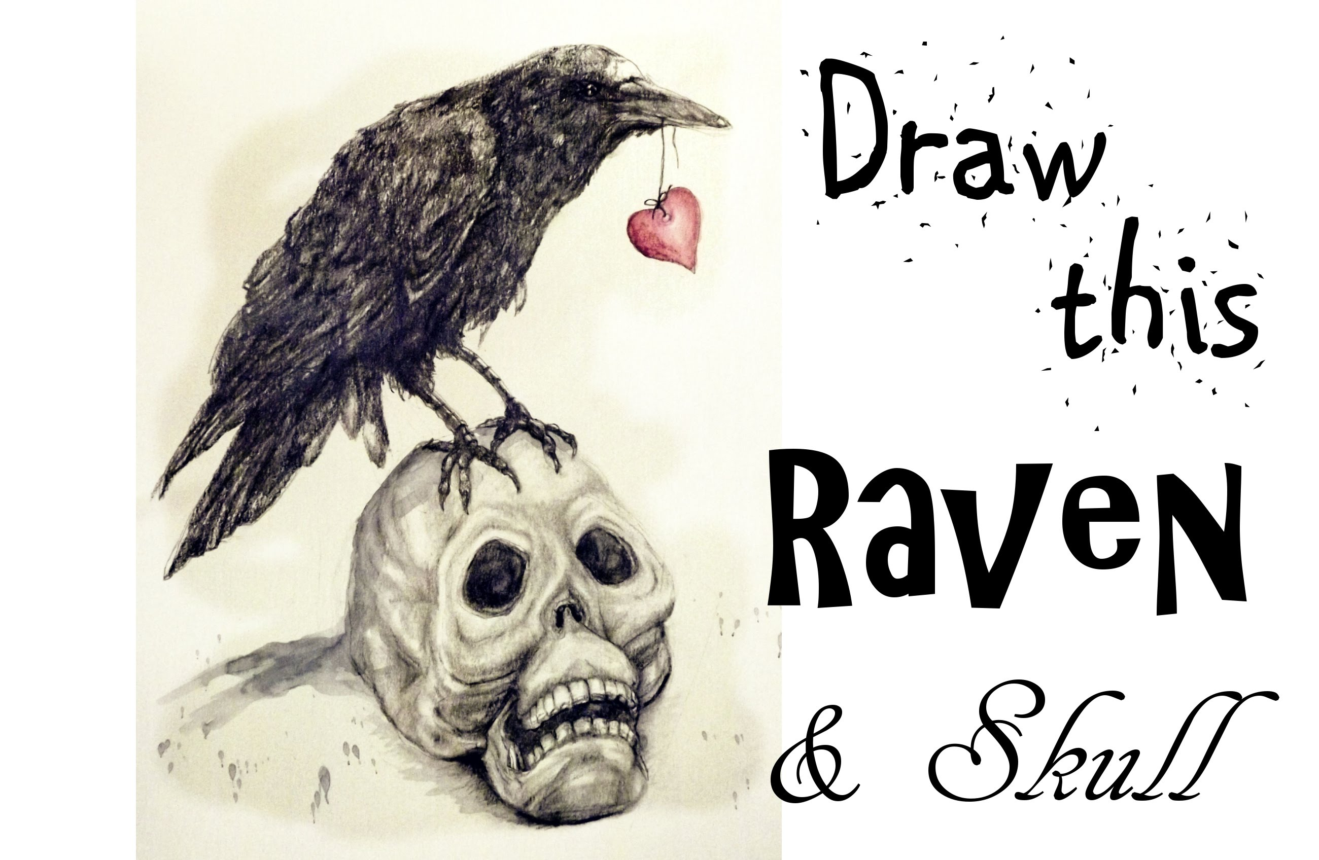 2600x1696 Draw A Raven And Skull Art Journal