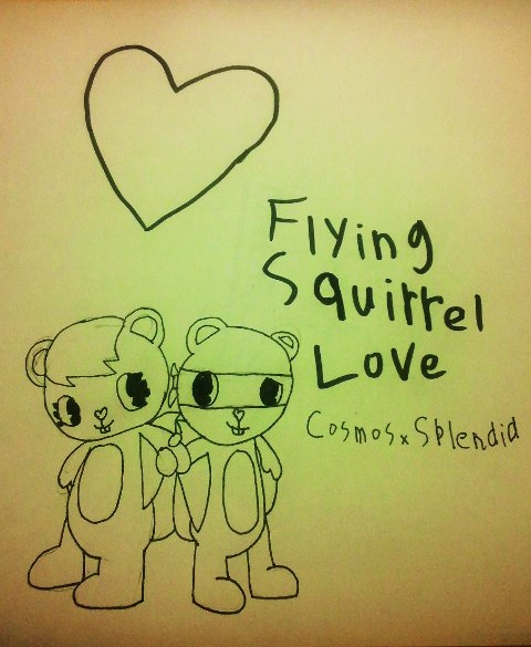 480x585 Flying Squirrel Love (Cosmos X Splendid) By Poppyandherfriends