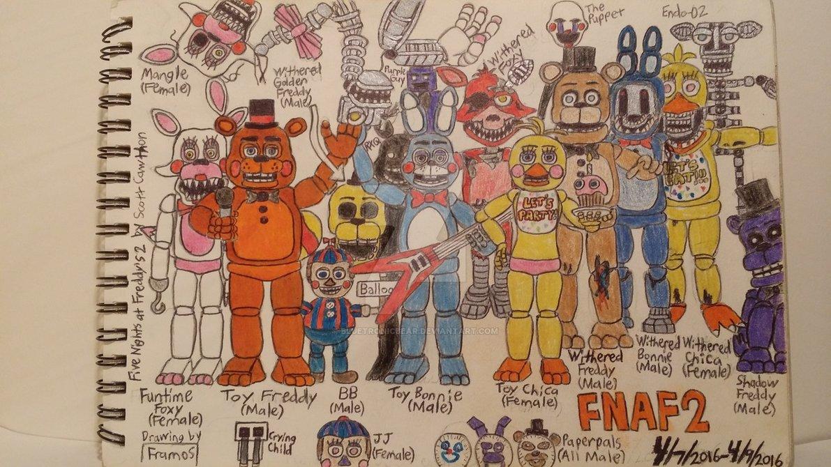 Fnaf 2 Drawings fnaf drawing at getdrawings   free download