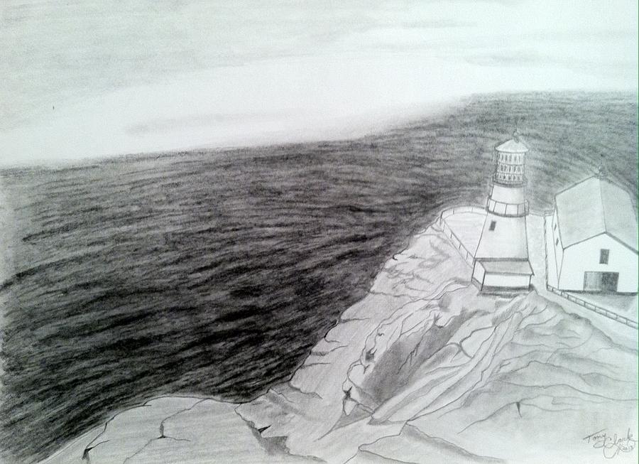 900x653 Approaching Fog Drawing By Tony Clark