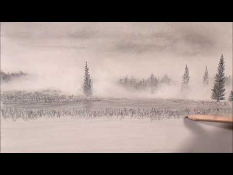 480x360 Drawing The Weather Foggy Landscape Part 1