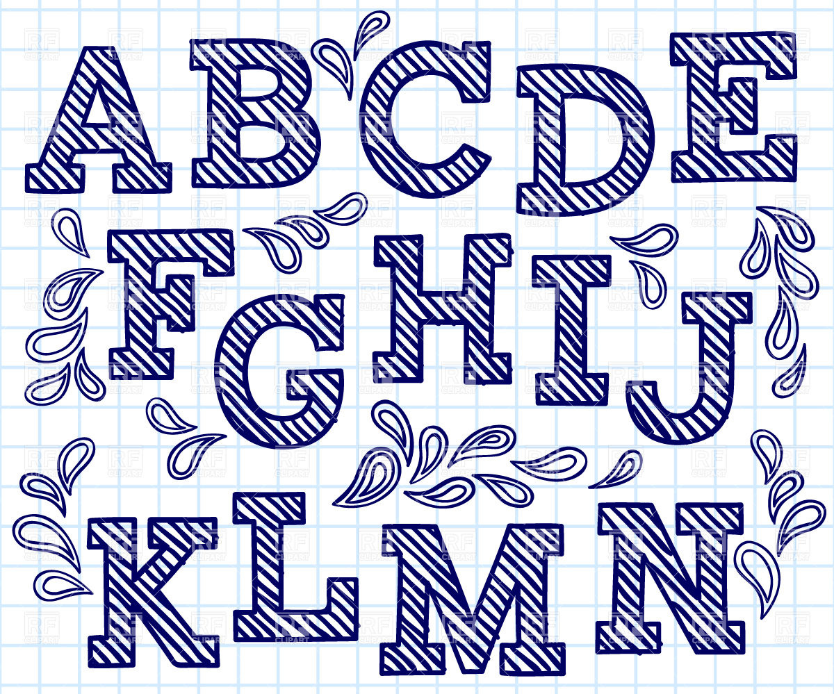 1200x999 Blue Hand Drawn Font