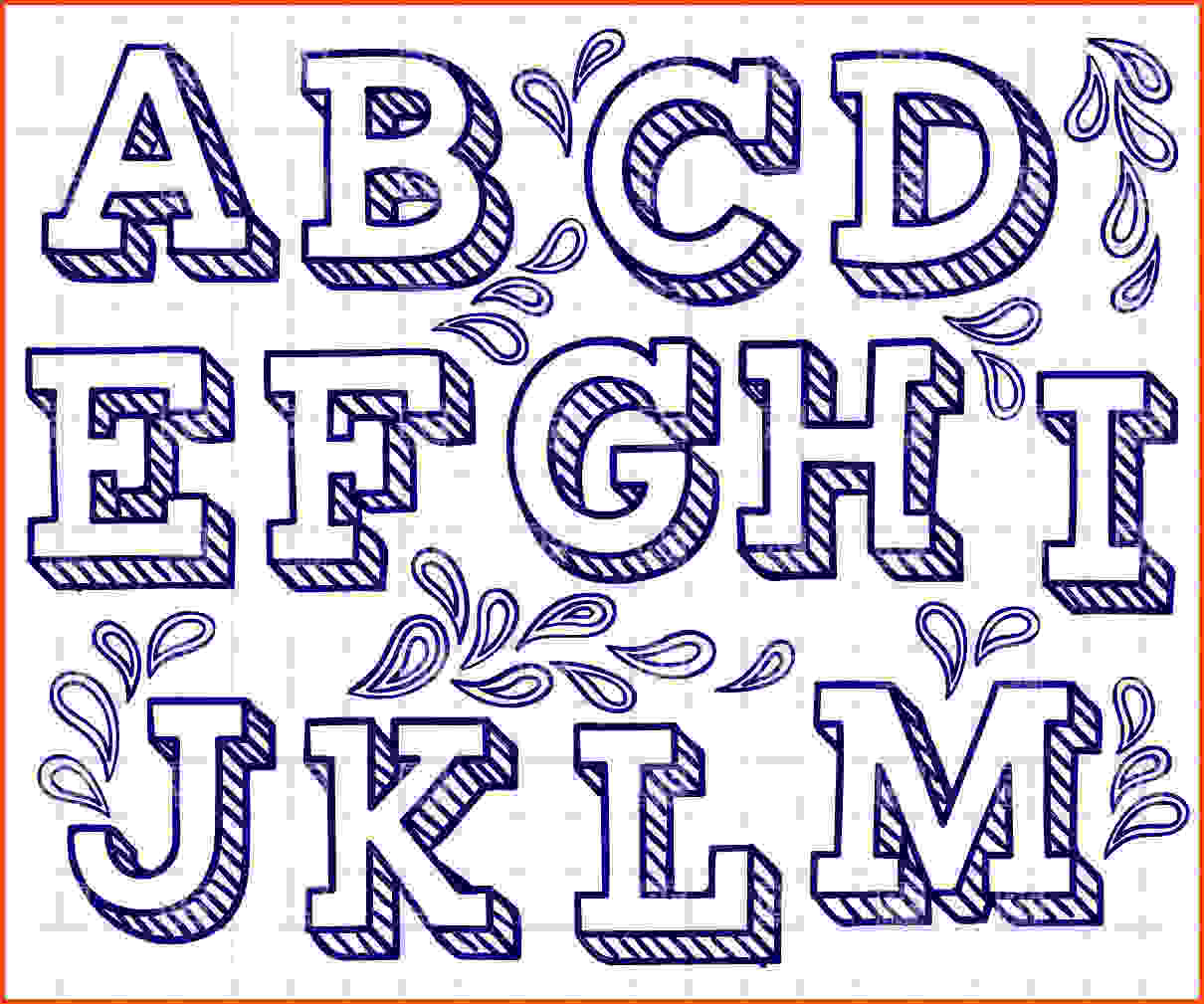 1210x1009 Cool Fonts Bubble Letters Lettershand Drawn Font
