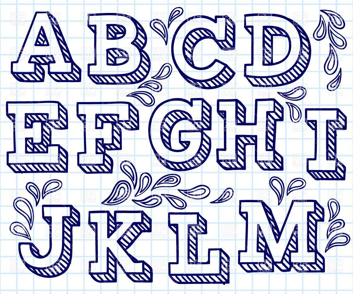 1200x999 Hand Drawn Font