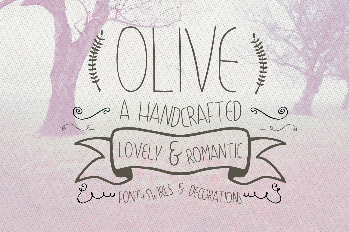 1160x772 Olive Hand Drawn Font Decorations Christos Chiotis