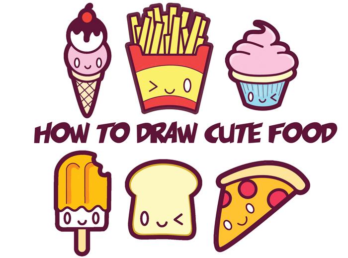 700x519 How to Draw Cute Kawaii Food
