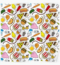 210x230 Junk Food Drawing Posters Redbubble