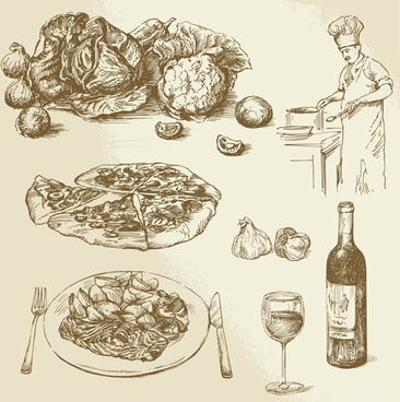 366x368 Food Drawing Free Vector Download (93,231 Free Vector)