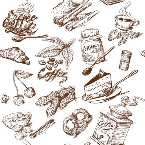 500x500 Hand Drawn Illustrations Food Elements Vector 02