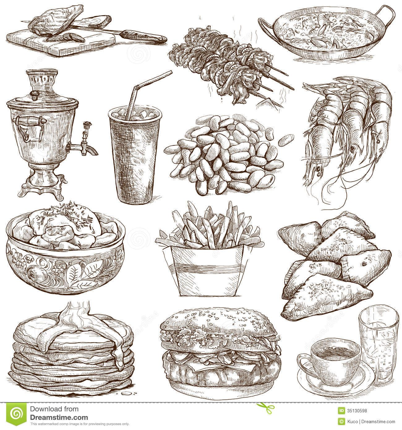 1300x1390 food drawings