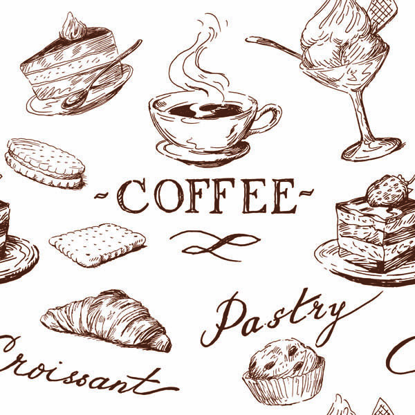 600x600 Free Vector Line Drawing Of Food And Kitchen Utensils Vector Art