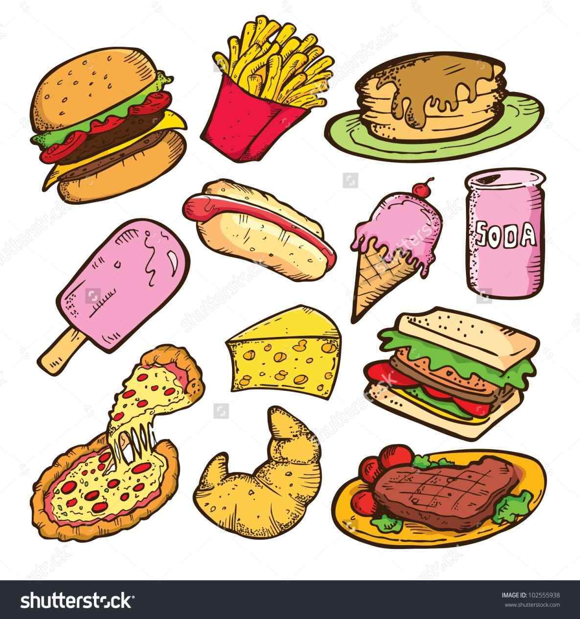 1185x1264 Junk Unhealthy Food Drawing Food Coloring Pages To Download