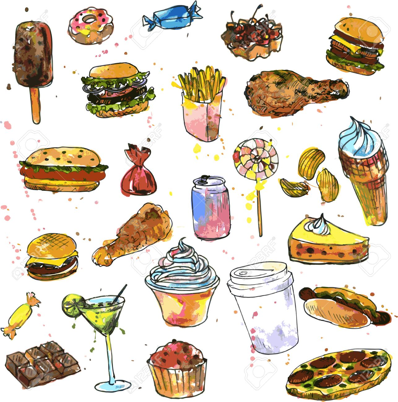 Food Drawing Images At Getdrawings Com Free For Personal