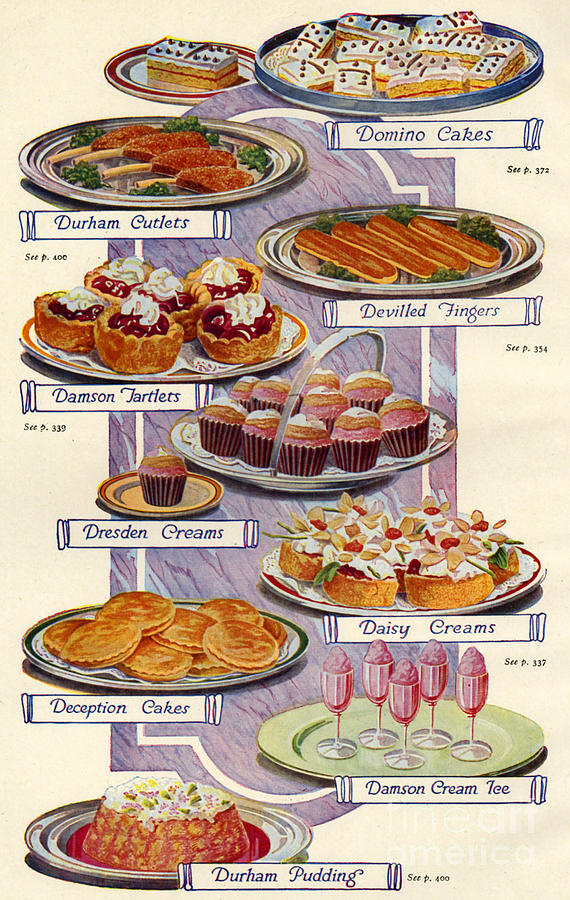 570x900 1920s Uk Food Magazine Plate Drawing By The Advertising Archives