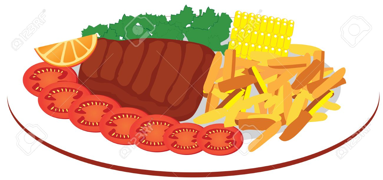 1300x611 Food Plate Royalty Free Cliparts, Vectors, And Stock Illustration