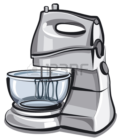 392x450 Hand Drawing Of A Funny Food Processor Royalty Free Cliparts