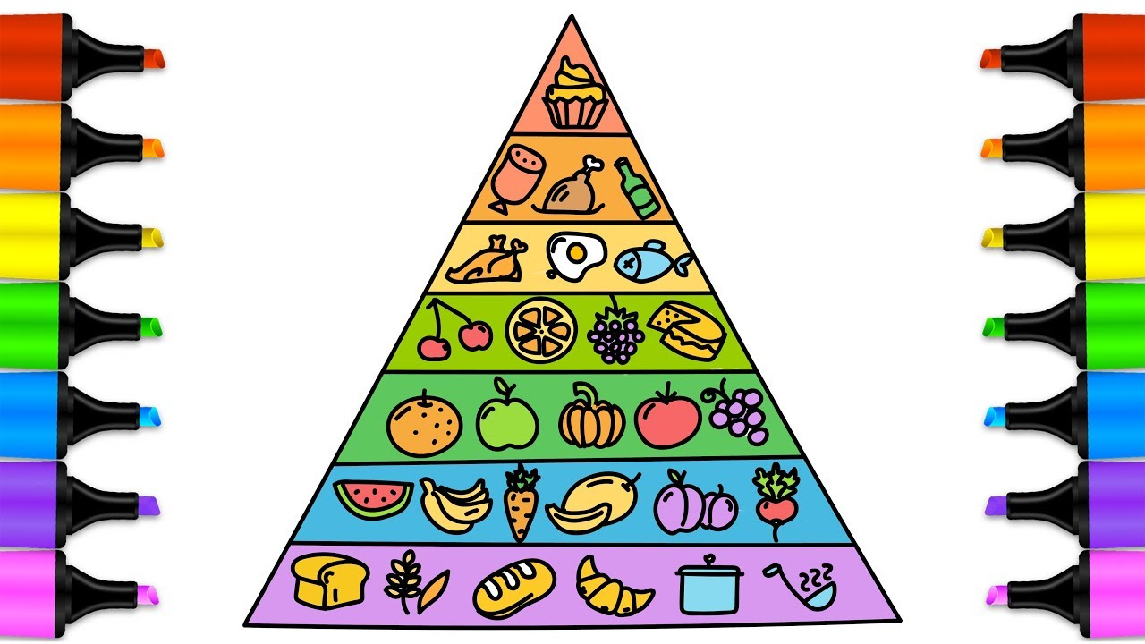 Food Pyramid Drawing at GetDrawings.com | Free for personal use Food ...