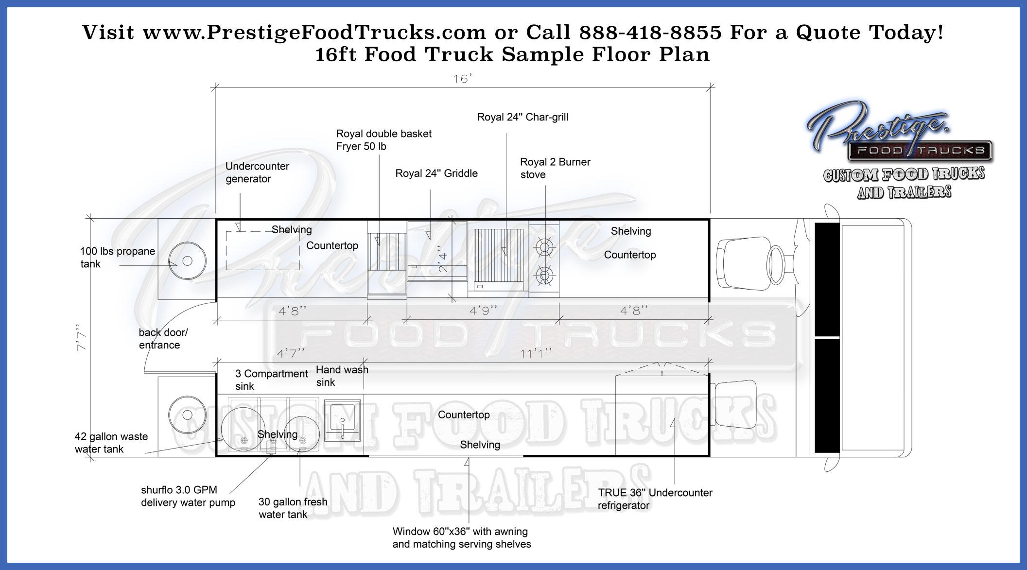 2113x1173 Custom Food Truck Floor Plan Samples Prestige Custom Food Truck