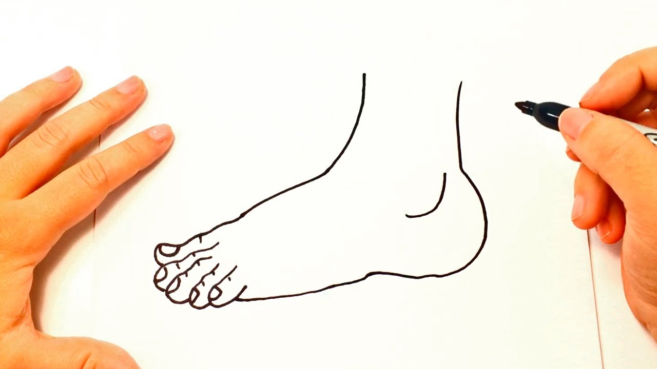1280x720 How To Draw A Foot Foot Easy Draw Tutorial