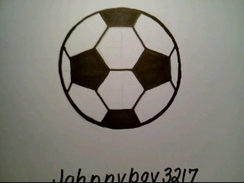480x360 How To Draw A Soccer Ball Como Dibujar Una Pelota Futbol Fifa