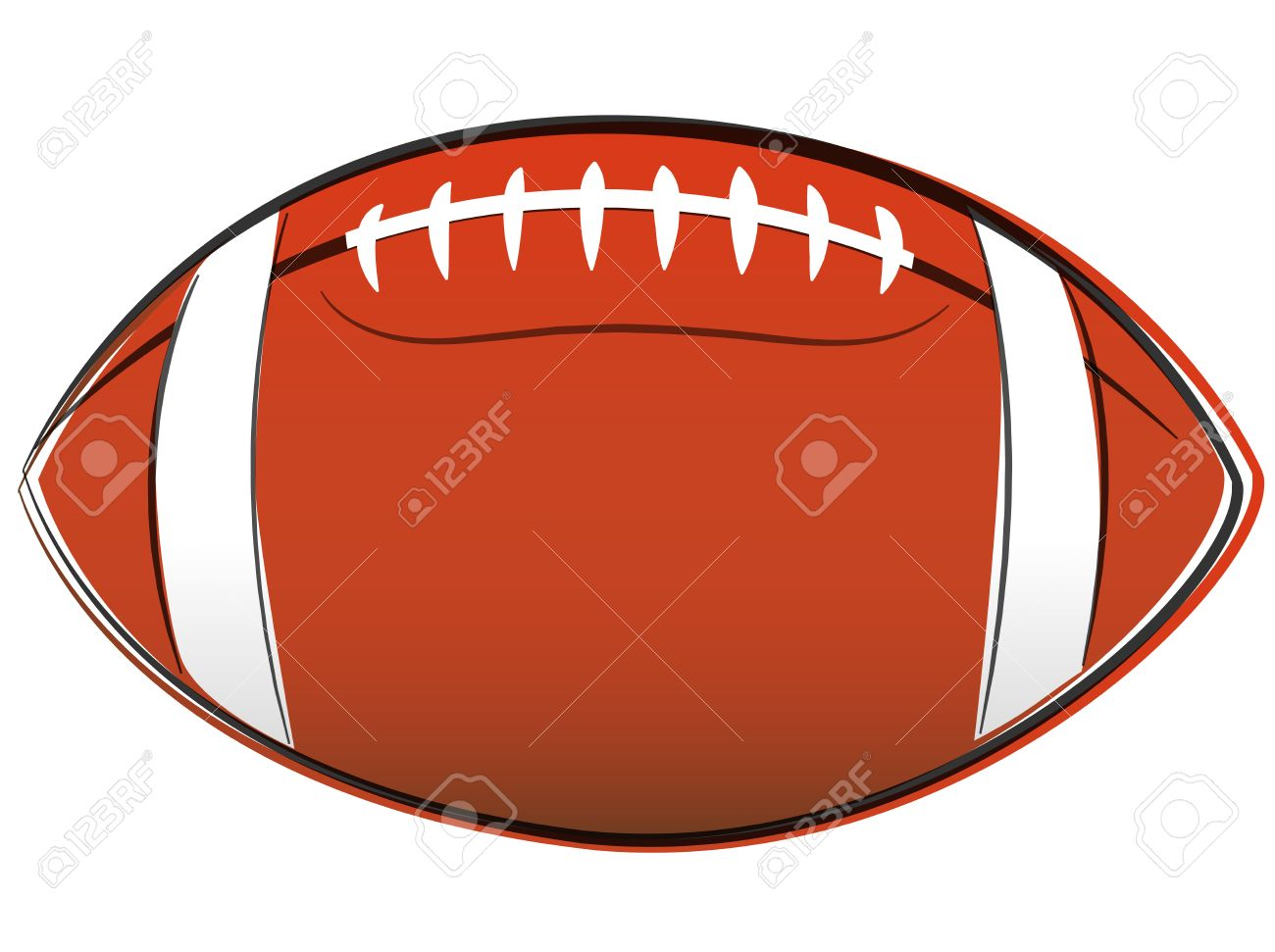 1300x971 Illustration Of American Football Ball Drawing On White Background