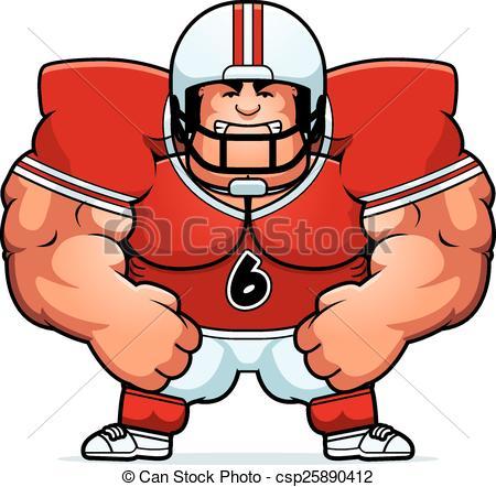 450x442ngry Cartoon Football Player. Cartoon Illustration