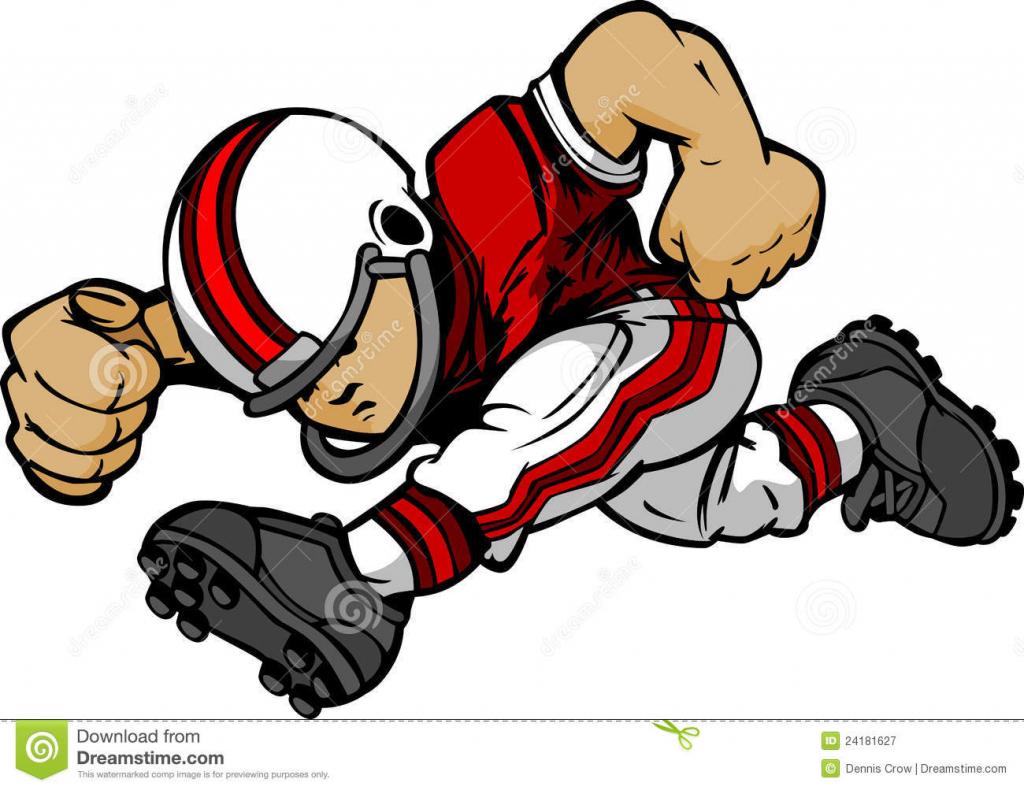 1024x790 Cartoon Drawings Football Players Football Player Cartoon Royalty