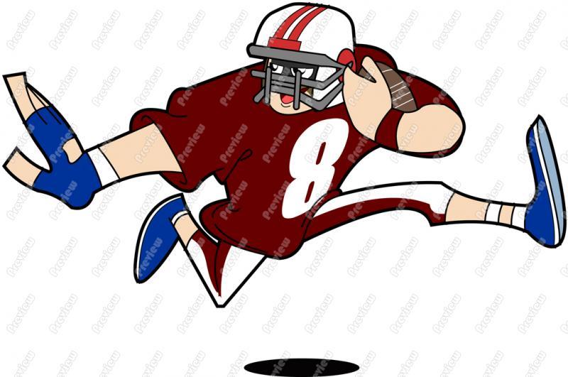 800x531 Football Player Character Clip Art