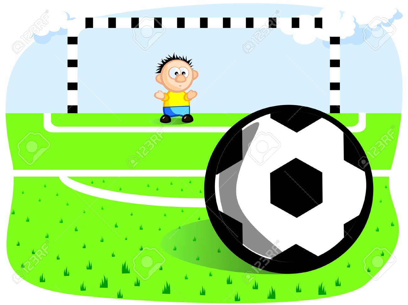 1300x973 The Goalkeeper Defends The Goal. Penalty. Ball. Gates. Football