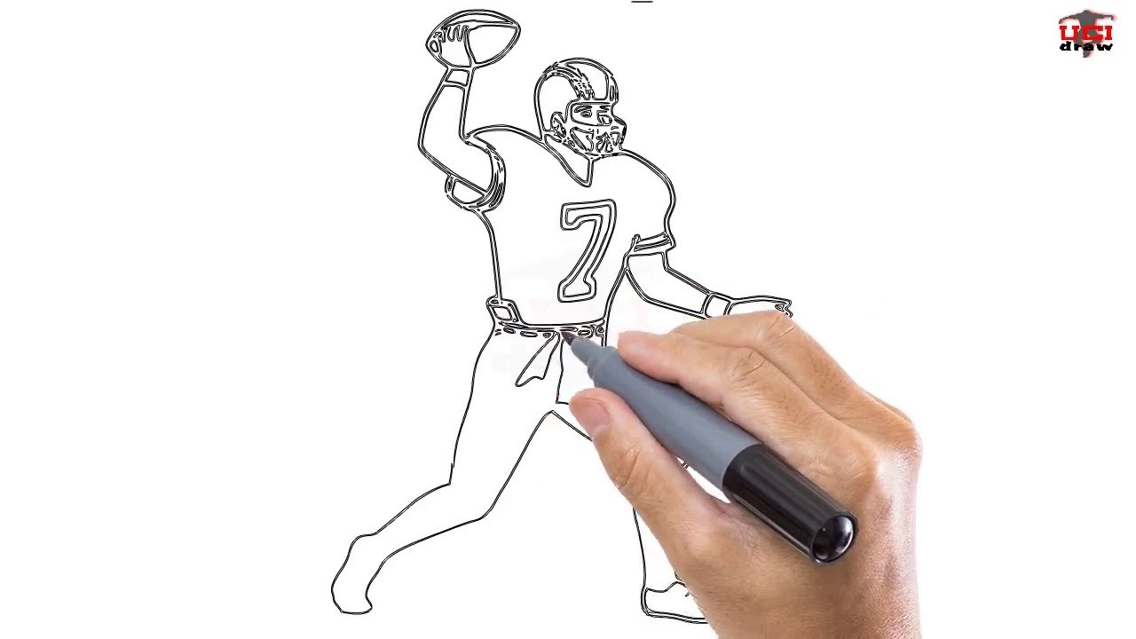 1280x720 How To Draw A Football Player Easy Step By Step Drawing Tutorials