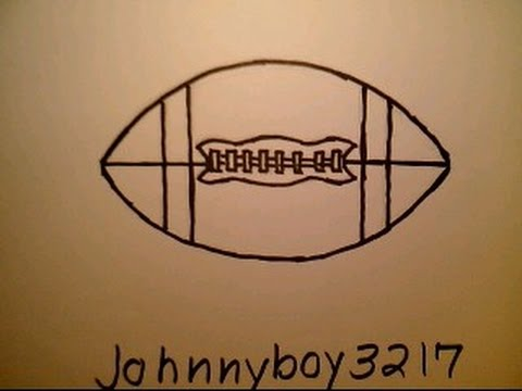 480x360 How To Draw A Football Como Dibujar Una Pelota De Futbol Nfl