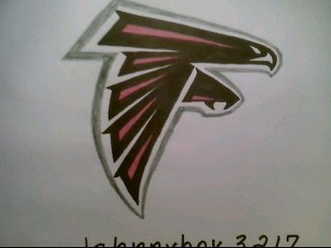 480x360 How To Draw Atlanta Falcons Logo Easy Step By Tutorial Nfl