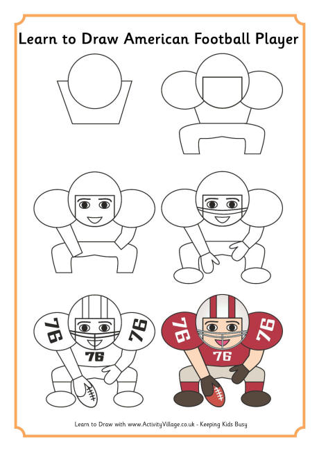 460x650 To Draw An American Football Player