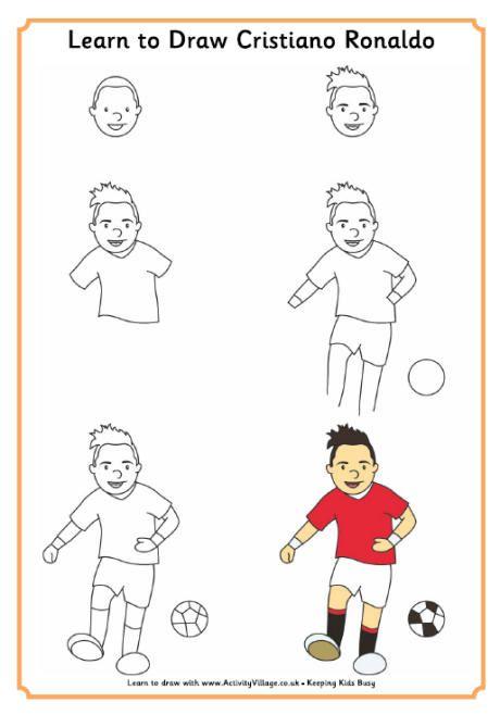 460x658 Learn To Draw Ronaldo Art For Children Ronaldo