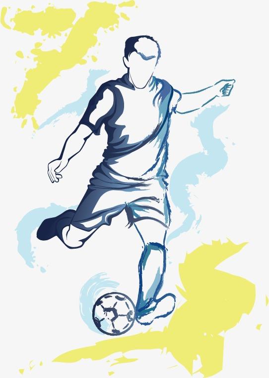 542x760 Drawing Football Players, Football, Soccer Player, Shooting Png