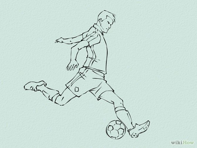 670x503 How to draw soccer Draw Soccer Players Step 5.jpg Art