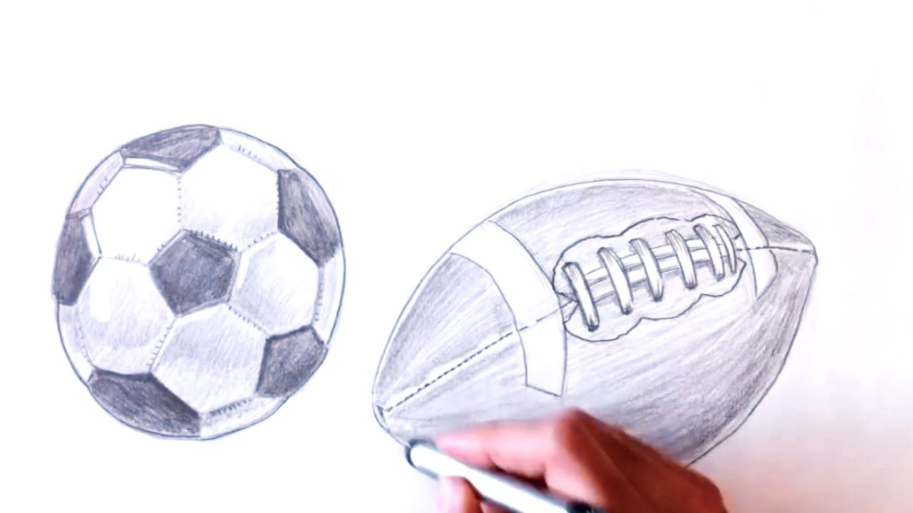 1280x720 How To Draw Football Pencil Drawing