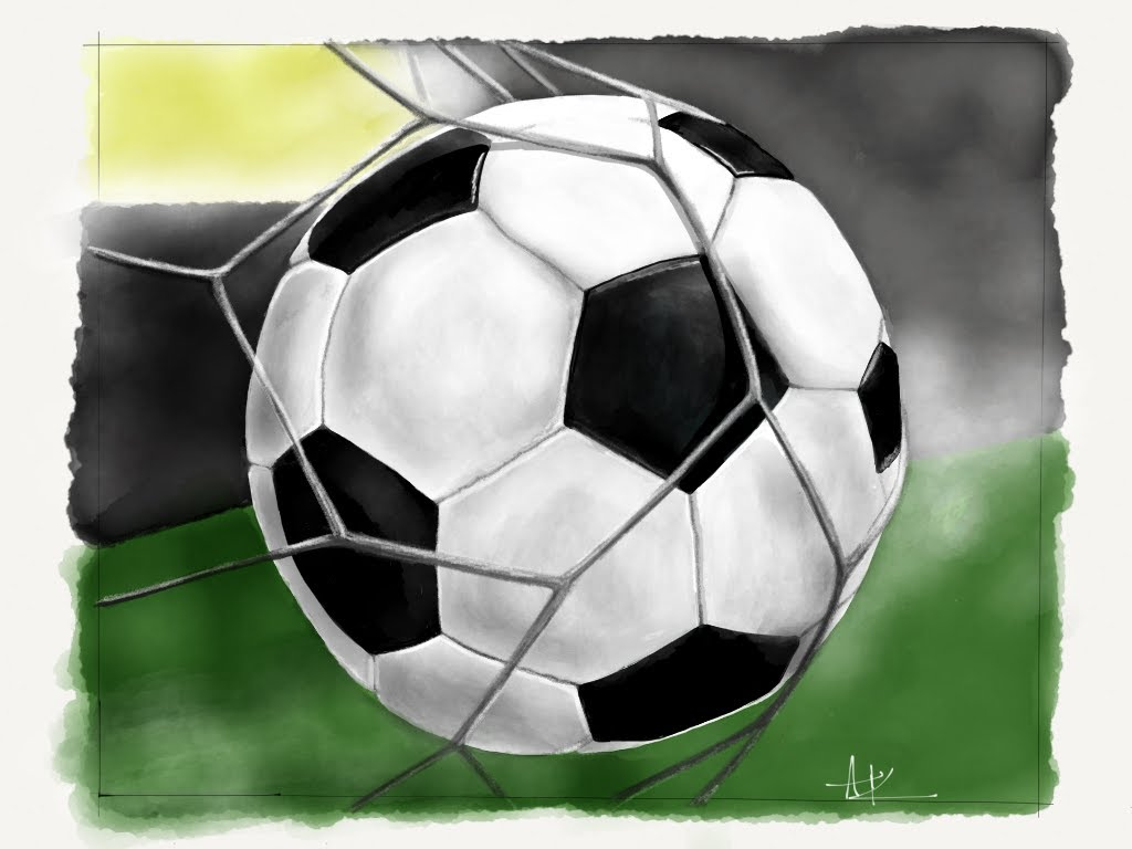1024x768 How To Draw Soccer Ball Football Paper By 53