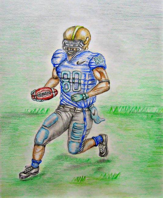 534x650 Stunning Football Pencil Drawings And Illustrations For Sale