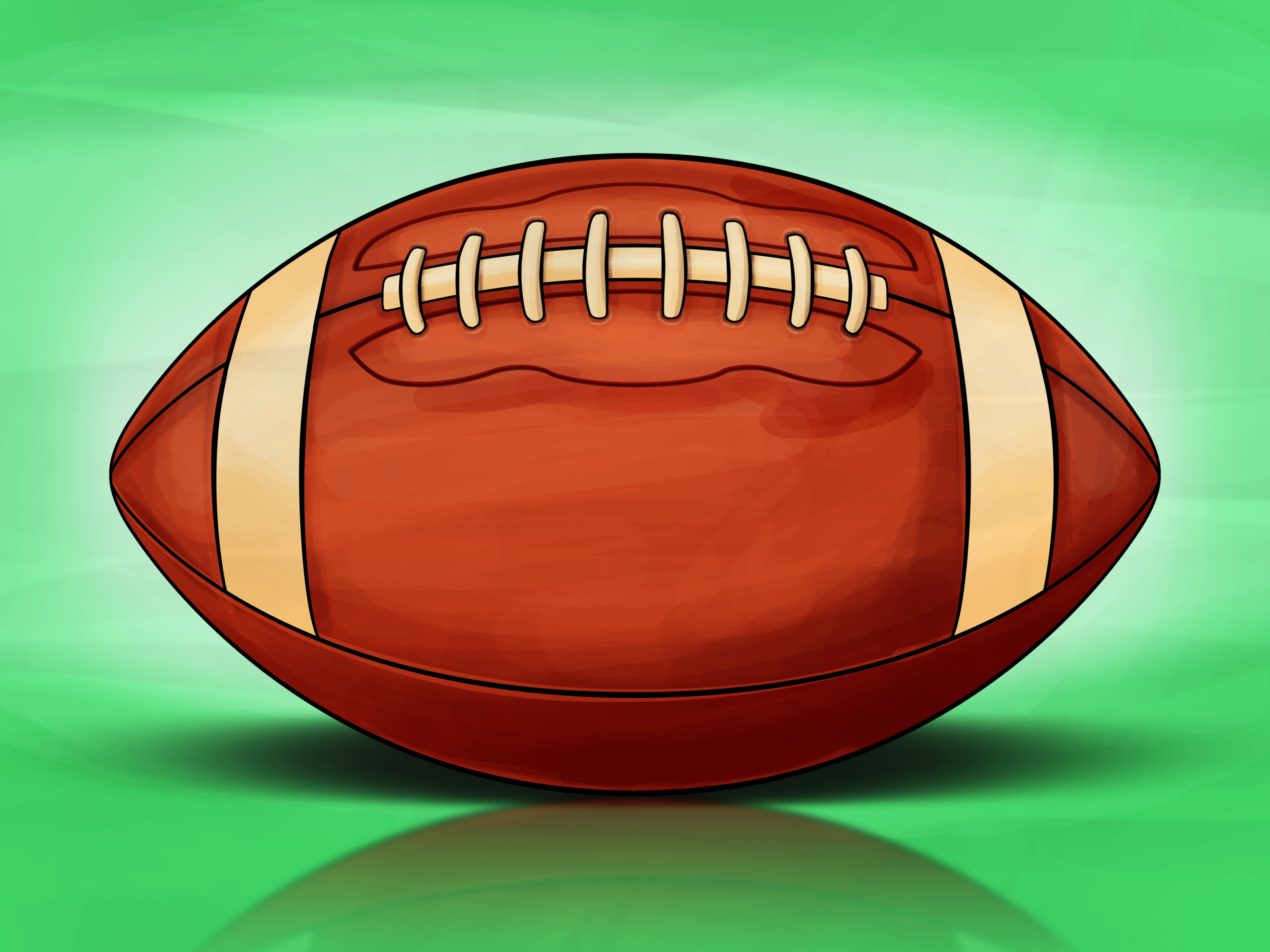 3200x2400 How To Draw A Football 13 Steps (With Pictures)