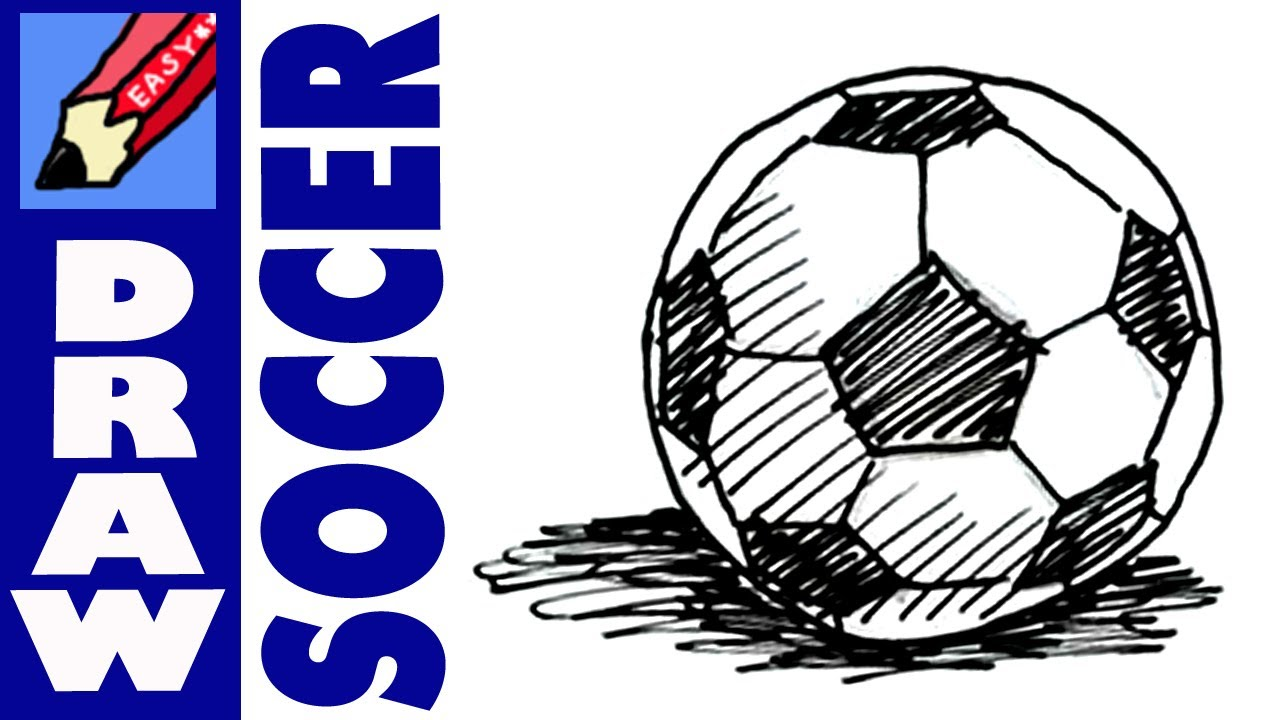 1280x720 How To Draw A Soccer Football Ball Real Easy